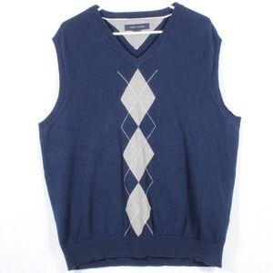 Tommy Hilfiger Men's V Neck Argyle Sweater Vest